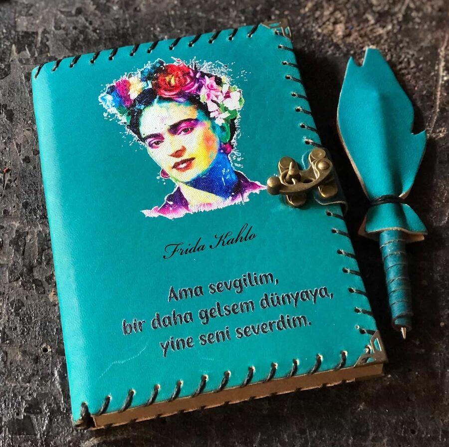 Frida Kahlo Tasarımlı Deri Defter