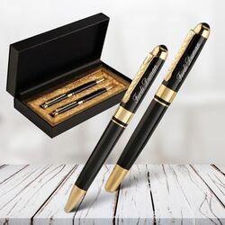 Kişiye Özel İsimli Metal Kalem Seti - Thumbnail
